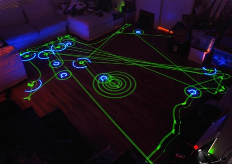 Roomba Robot Vacuum Long Exposure Photo