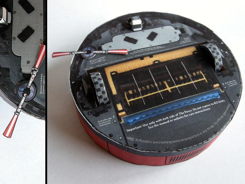 Papercraft Irobot Roomba 400 And Darth Maul Mashup