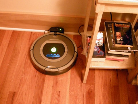 iRobot Roomba at home charging in dock