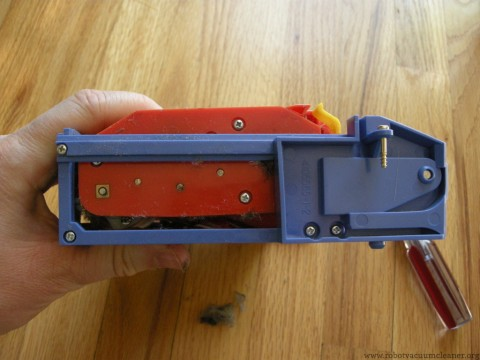 The side of the module with the gearbox